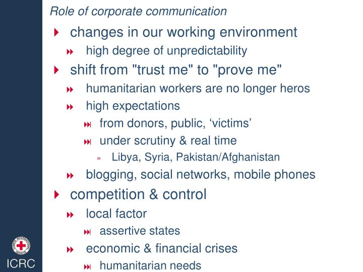 Role of corporate communication1