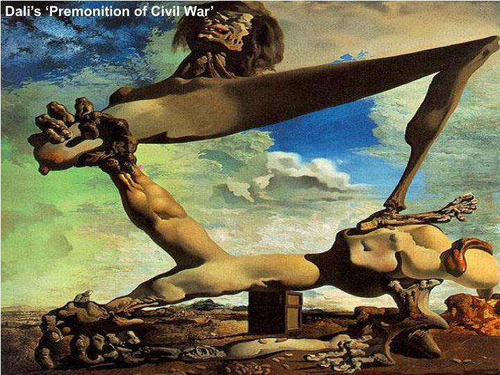 Dali's 'Premonition of Civil War'