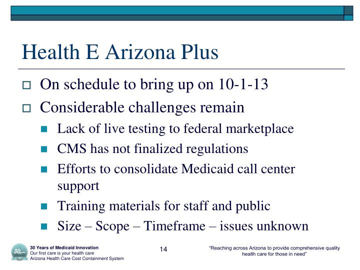 Health E Arizona Plus