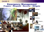 emergency management prepare respond recover mitigate