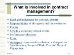 what is involved in contract management