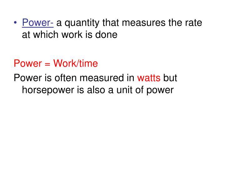 Power-