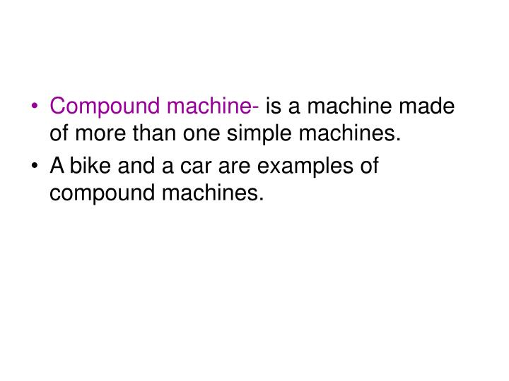Compound machine-