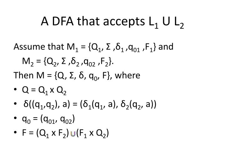 A DFA that accepts L