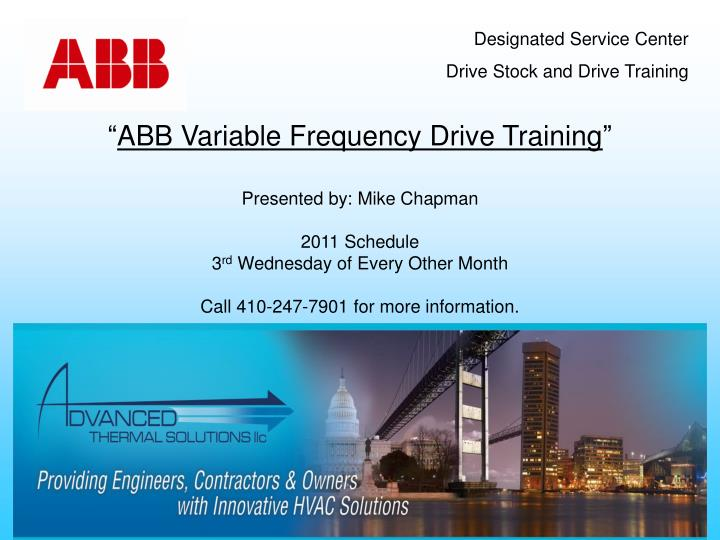 Abb variable frequency drive training