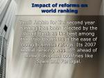 impact of reforms on world ranking