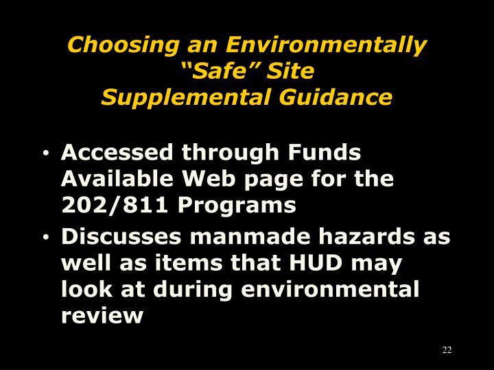 """Choosing an Environmentally """"Safe"""" Site"""