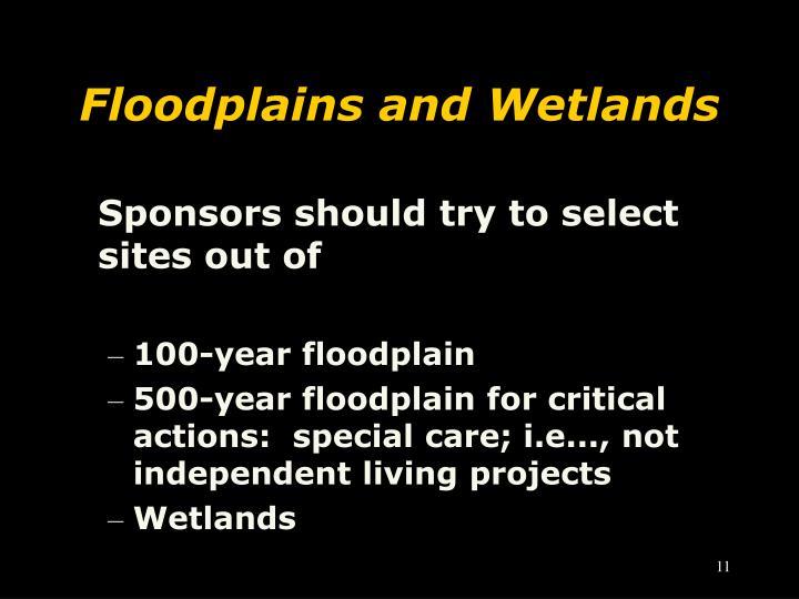 Floodplains and Wetlands