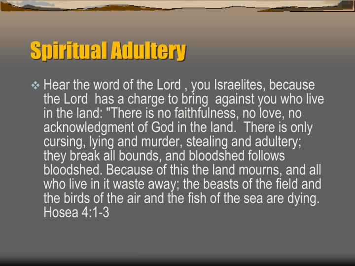 Spiritual Adultery