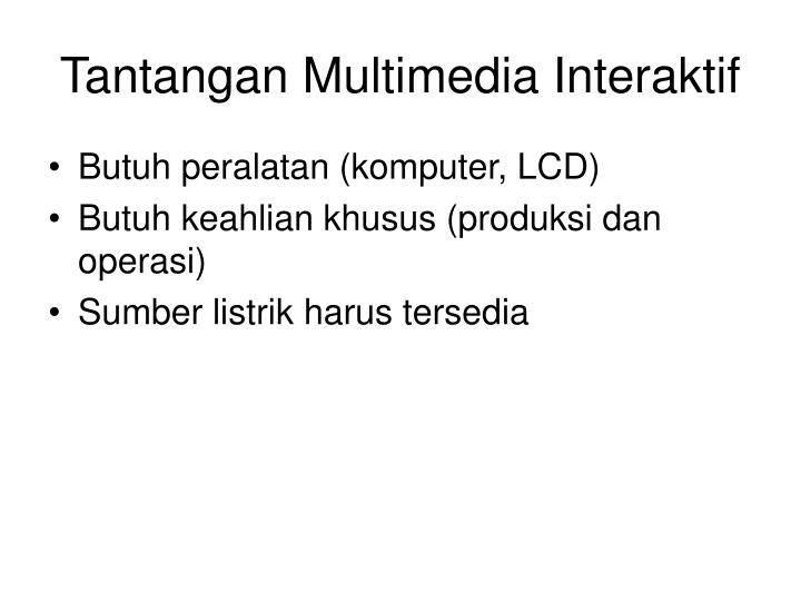 Tantangan Multimedia Interaktif