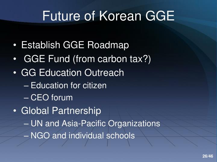 Future of Korean GGE