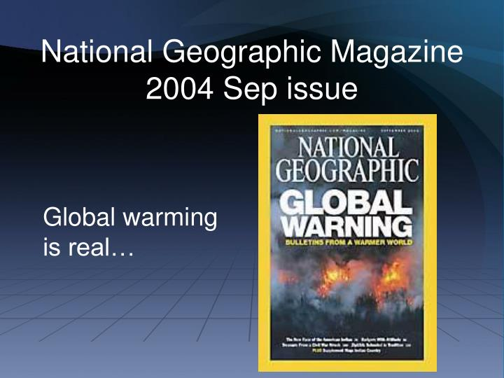 National geographic magazine 2004 sep issue