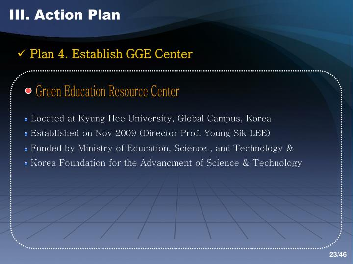 III. Action Plan
