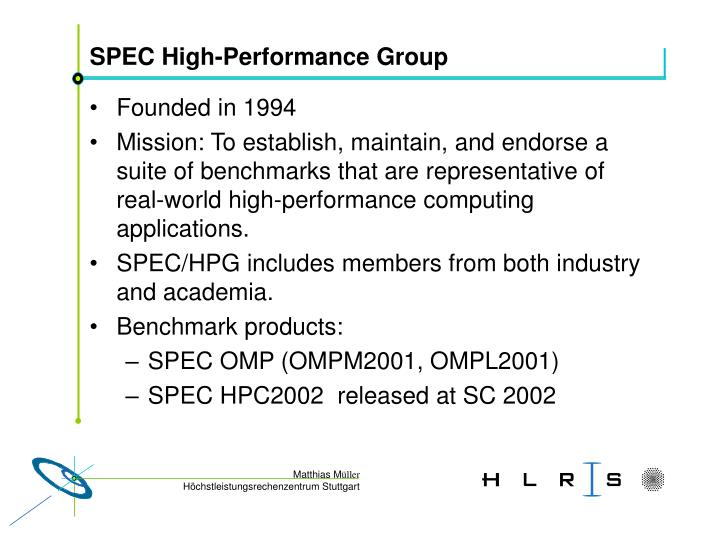 Spec high performance group