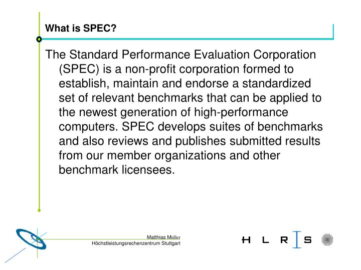 What is SPEC?