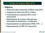 grupo de trabajo iris ipv61
