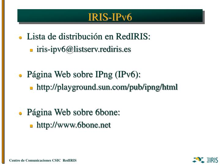 IRIS-IPv6