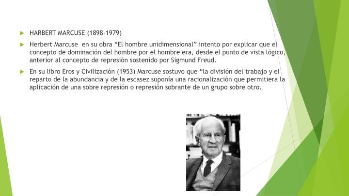 HARBERT MARCUSE (1898-1979)