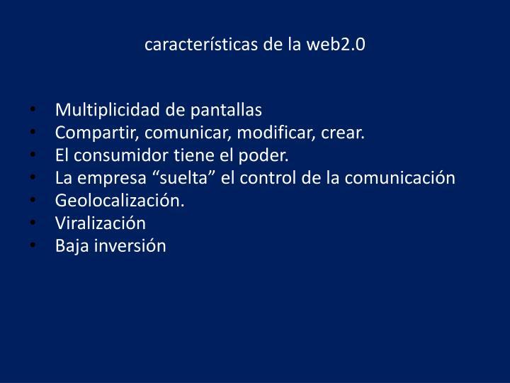 características de la web2.0