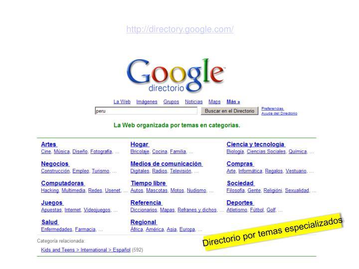http://directory.google.com/