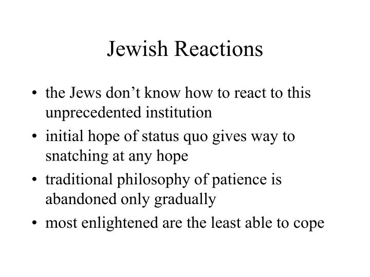 Jewish Reactions