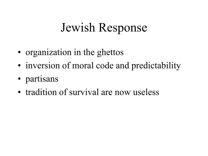 Jewish Response
