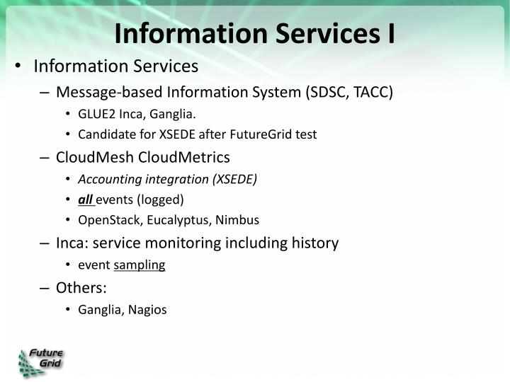Information Services I