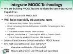 integrate mooc technology