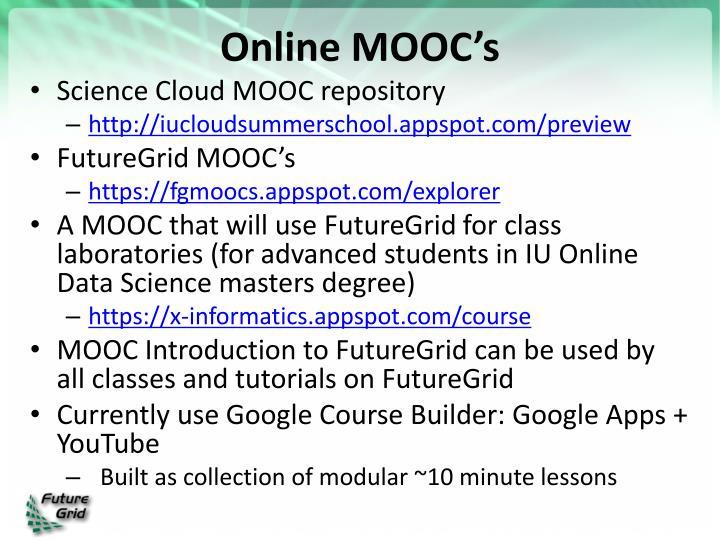 Online MOOC's