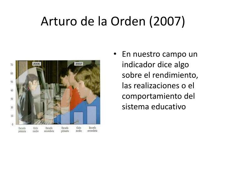 Arturo de la Orden (2007)