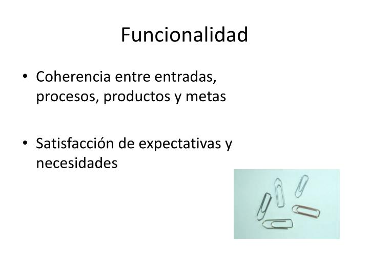 Funcionalidad