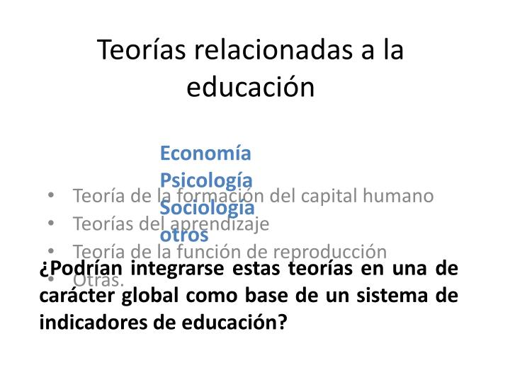 Teorías relacionadas a la educación