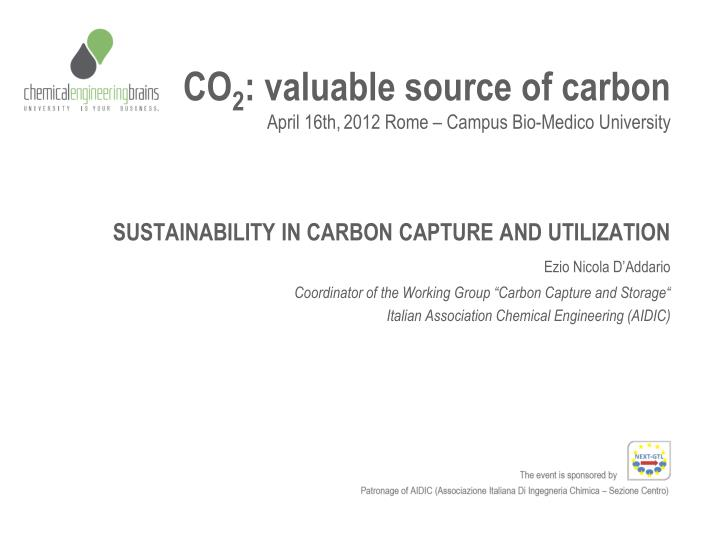 Co 2 valuable source of carbon