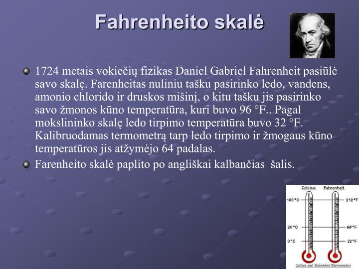 Fahrenheito skalė