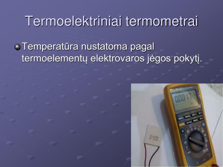Termoelektriniai termometrai