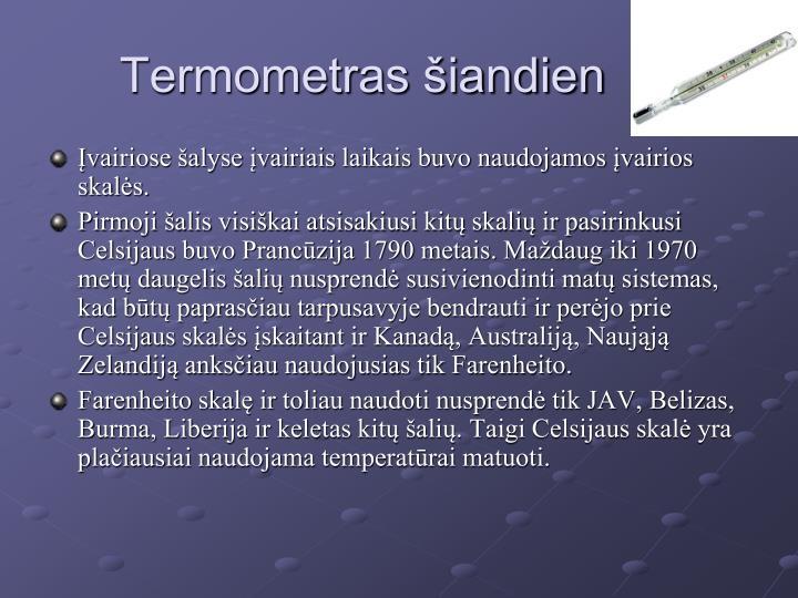 Termometras šiandien