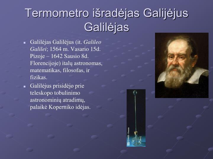Galilėjas Galilėjus(it.