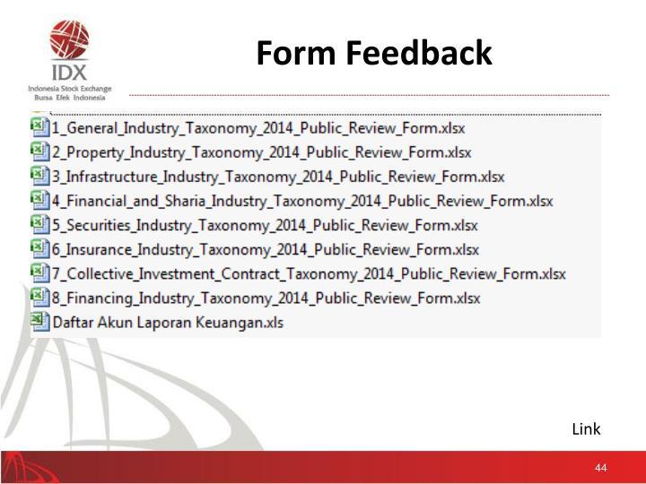 Form Feedback
