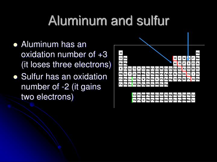 Aluminum and sulfur