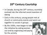20 th century courtship