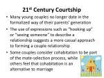 21 st century courtship