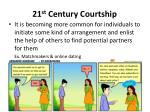 21 st century courtship2
