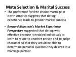 mate selection marital success