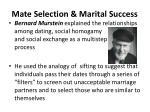 mate selection marital success1