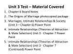 unit 3 test material covered