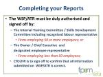 completing your reports1