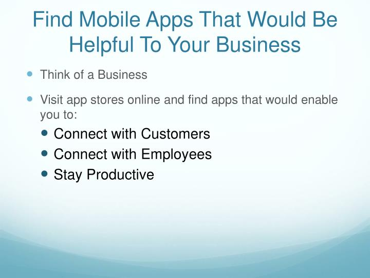 Find Mobile Apps That