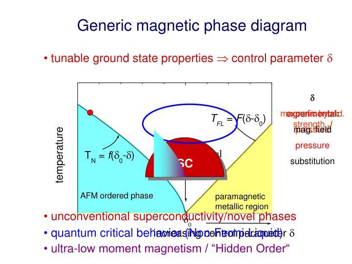 Generic magnetic phase diagram