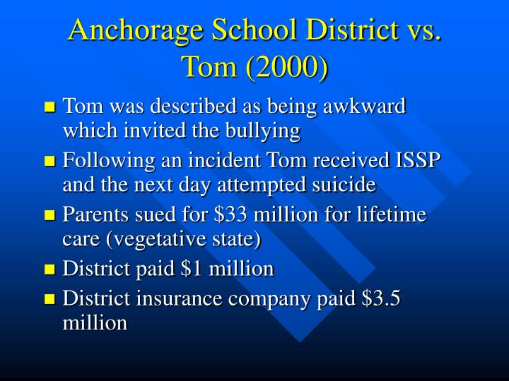 Anchorage School District vs. Tom (2000)