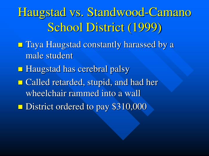 Haugstad vs. Standwood-Camano School District (1999)